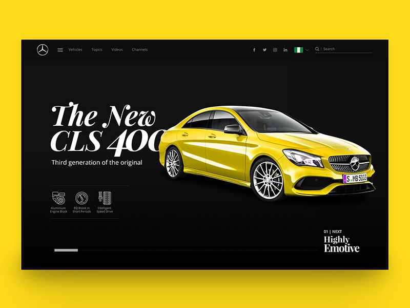 Mercedes Benz landing page redesign benz dribbble web design website user interface uiux. ux ui