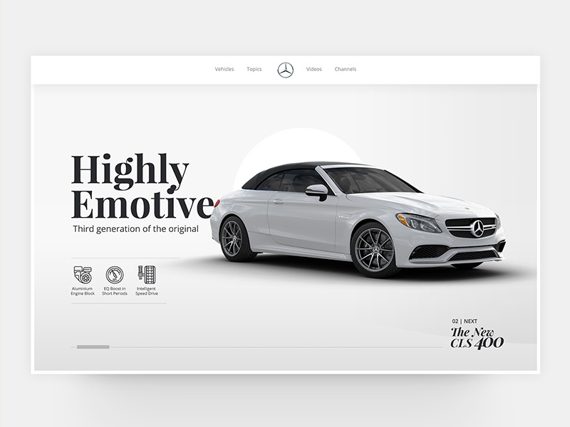 Mercedes Benz landing page redesign benz dribbble web design website user interface uiux. ux ui