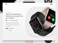 iWatch Series 3 - Product Page Design Concept