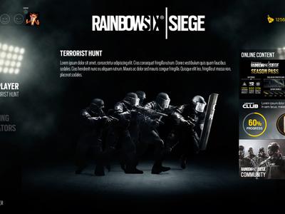 Rainbow Six Siege ps4 interface game design uiux