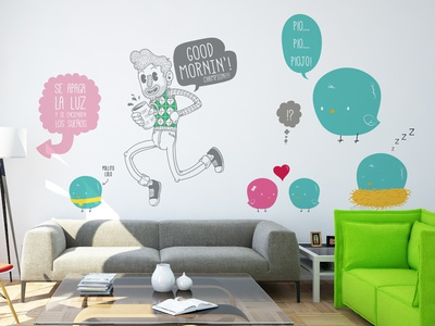 tenvinilo[dot]com illustration wall stickers sticks