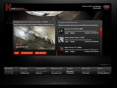 Copa Horch Games ux iu design web game