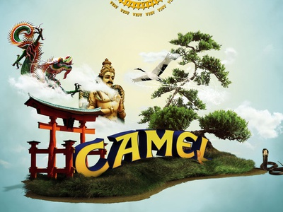 Camel Globe campaing illustration design