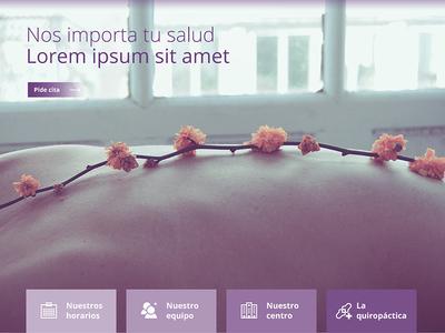 Centro Quiropractico Madrid website photoshop ux ui web design