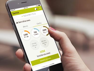 Bankia 2018 App service stats ui ux design mobile app bank bankia