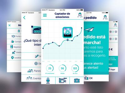 Wizink Center App design interactive ui ux mobile app bank wizink