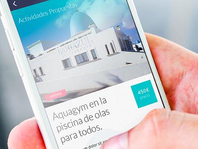 Bahiazul App experience design ui ux mobile app hotel