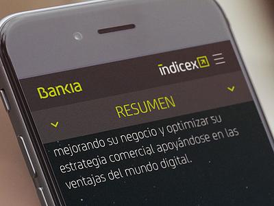 WIP - BANKIA stats bank mobile ui ux web bankia infographic banking responsive site