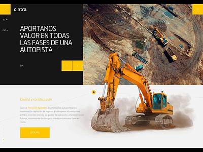 Ferrovial Demo animation road construction interactive ux design corporate brand agency web ui interaction demo animation site