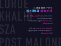 homemade dynamite - lyrics poster