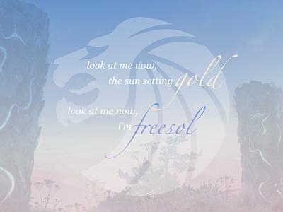 freesol - lyrics poster pastel poster inspiration typography lettering typo lyrics concept music gradient sky