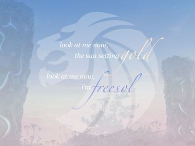 freesol - lyrics poster pastel poster inspiration typography lettering typo lyrics concept music gradient sky