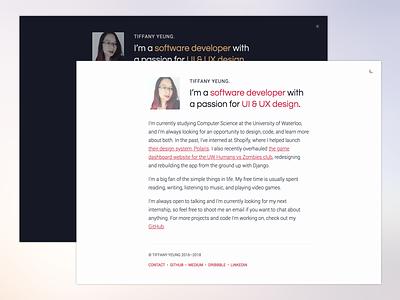 Polar v2.0 clean branding redesign portfolio minimal developer designer identity ui about website web
