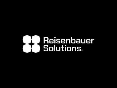 Raisenbauer Solutions software logo strong mark strong strong logo bold logo bold mark simple brand clean software industrial creative modern logo minimal
