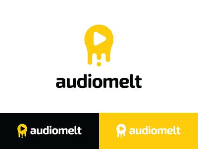 Audiomelt music brand music app music identity music mark music logo music audio app melt logo melt sounds sound mark sound logo logotype play mark play button play logo play creative logo modern