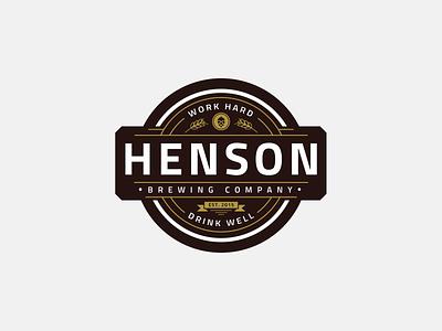 Henson - Brewing Company retro logo drink vintage vintage logo classic logo simple beer logo beer emblem beer emblem drink brewing company brewing modern