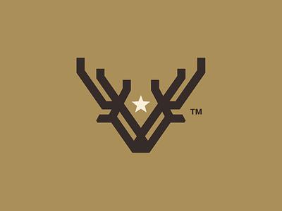 DeerStar nature emblem nature logo nature deer emblem emblem retro logo star mark deer mark star logo deer logo star deer