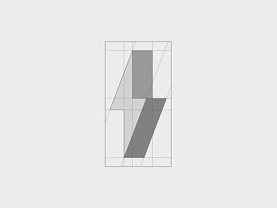 ThunDrake - Symbol grid design lightning logo energy logo energy grid system grid logo design minimal branding modern logo creative