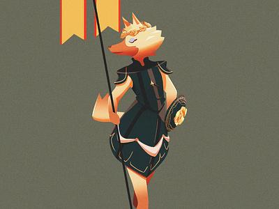 Vivian illustration illustrator fan art animal illustration armor vivian crossing animal animal crossing