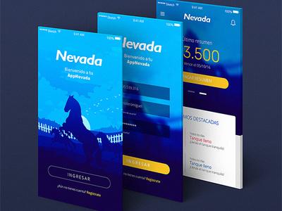 Tarjeta Nevada illustration app credit card ux design ui design