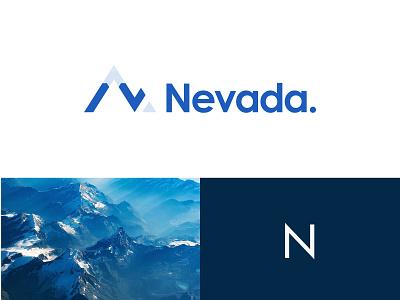Logo ReDesign snow mountain design logo