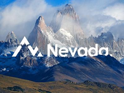 Logo Nevada fitz roy argentina nevada mountain snow redesign logo