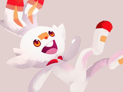 ScorbunnyGang fire digital art illustration art pokemon gang corbunny gang scorbunny