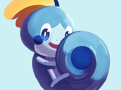 SobbleGang pokemon digital painting illustration water sobble gang gang sobble