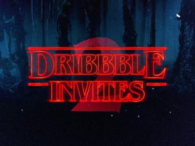 2 Strange Dribbbble Invites