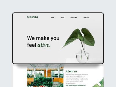Petunia Ecommerce Desktop