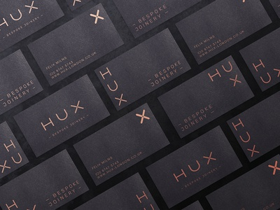 Hux Bespoke Joinery identity business cards