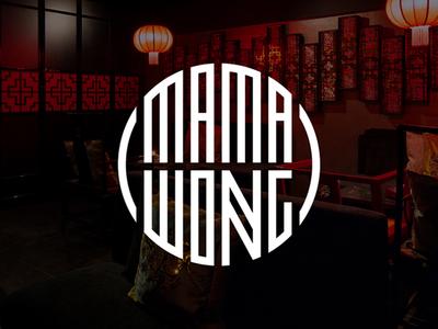 Mama Wong Chinese Restaurant chinese restaurant identity logo