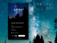 Astro Sign Up — Daily UI 001