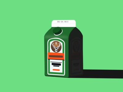 Milk Carton #1 milk carton moose liquor hard alcohol green dribbble design carton milk