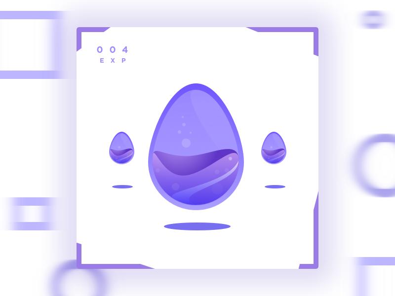Eggplant poster card motion purple eggplant splash gradient