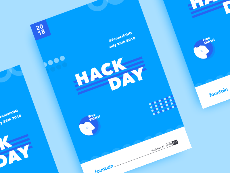 Hack Day Poster activity fun office sticker flyer poster free shirt shirt hack hack day