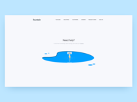 404 Page page not found help pool drowing sketch ui landing page 404