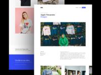 Camp Dover Website write-up featured creators landing editorial editorial art designer