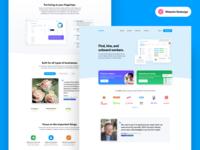Fountain Redesign testimonials homepage hiring tech startup home landing
