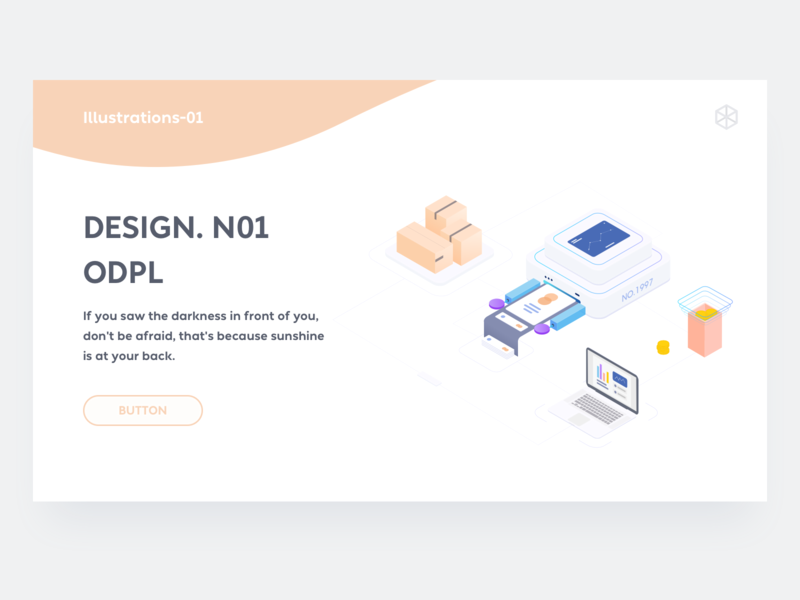 2.5D illustration dribbble design card web ui icon 2.5d