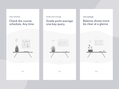 WePeiyang Guide page dribbble illustration app ui guide guide page