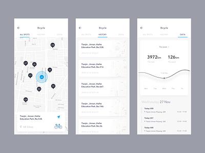 Bicycle module data bicycle card dribbble design app ui