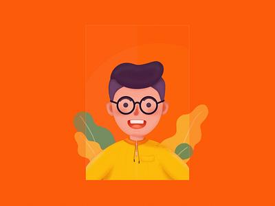 Color filter people boy yellow web illustration design ui