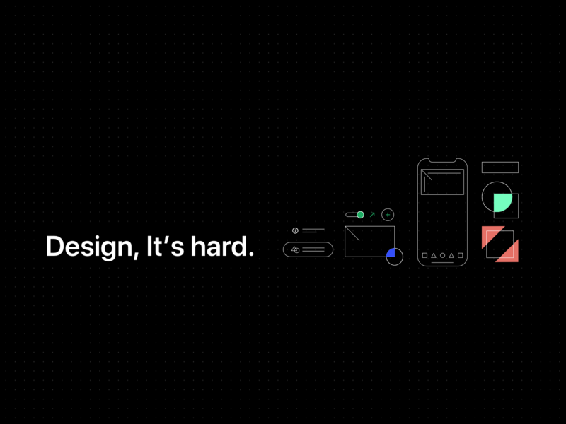 Design, It's hard design illustration ui linear dots