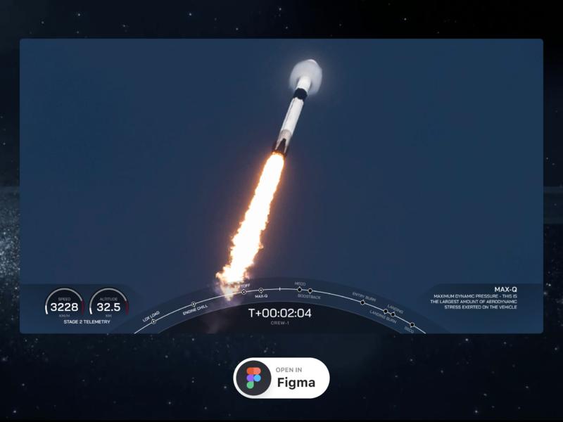 SpaceX Webcast Interface launch webcast webcast freebie figma freebie figma spacex