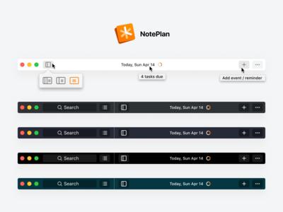 NotePlan 2 Toolbar