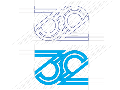 """""""locked rings of 32"""" Logo grid"""
