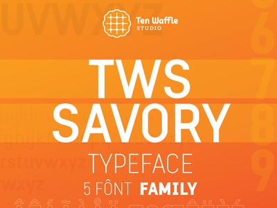 """""""TWS Savory"""" typeface"""