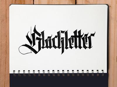 Blackletter calligraffiti