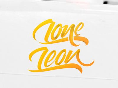 LoneLeon calligraphy logo